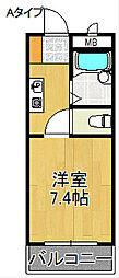ロンネストWAVEHOUSE[4階]の間取り