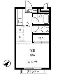 東京都品川区西五反田8丁目の賃貸アパートの間取り