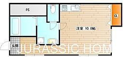 大阪府堺市堺区宿屋町東3丁の賃貸マンションの間取り