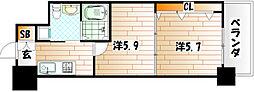 No.65 クロッシングタワー[01602号室]の間取り