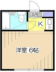 東京都東大和市仲原4丁目の賃貸アパートの間取り