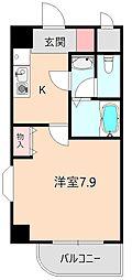 カーサ北桜塚[203号室]の間取り