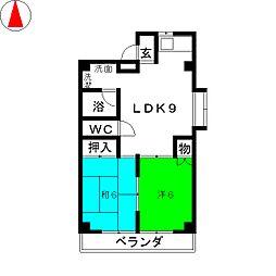 メゾン ド フォーレ[3階]の間取り