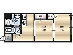 芙蓉園[4階]の間取り