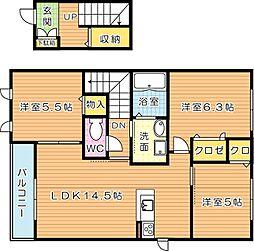 シャーメゾンナポリ A棟[2階]の間取り