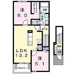 BEST HOUSE II B[0202号室]の間取り