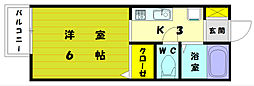 福岡県福岡市東区和白丘4丁目の賃貸アパートの間取り