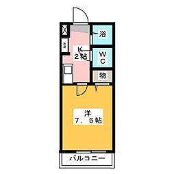 ウッディメゾン桜[2階]の間取り