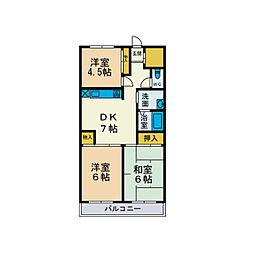 スカイヒル山崎[4階]の間取り