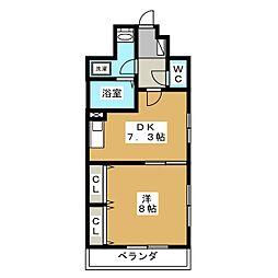 シェソワ21[1階]の間取り