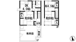 [テラスハウス] 兵庫県宝塚市小林3丁目 の賃貸【/】の間取り