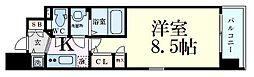 Osaka Metro堺筋線 長堀橋駅 徒歩4分の賃貸マンション 11階1Kの間取り