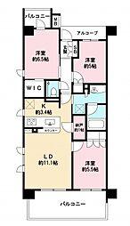 ザ・パークハウス杉並和田 3階3LDKの間取り