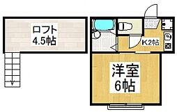 ルミエールTK[1階]の間取り