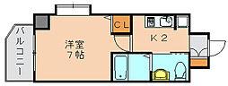 エステムコート博多祇園ツインタワーファーストステージ[10階]の間取り
