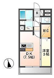 ベルエア御器所[1階]の間取り
