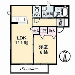 メイプルガーデン B棟[1階]の間取り