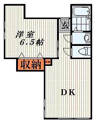 地曳ハウス[2階]の間取り