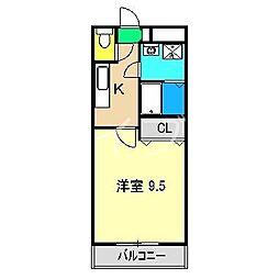 ウィスタリア21[4階]の間取り