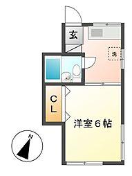 神奈川県川崎市高津区二子2丁目の賃貸アパートの間取り