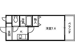 ベルデ堺東[213号室]の間取り