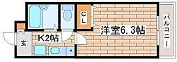 兵庫県神戸市須磨区須磨浦通4丁目の賃貸アパートの間取り