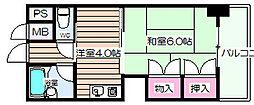 グレイスフル中崎I[9階]の間取り
