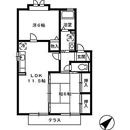 レジデンス・パークA[1階]の間取り