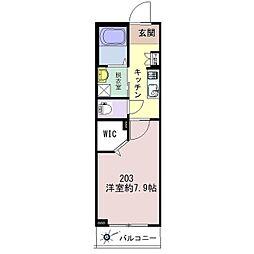 仮称)松波シャーメゾン[203号室]の間取り