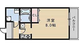 レグルス阿倍野[402号室]の間取り