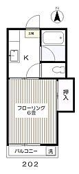 東京都府中市新町3丁目の賃貸アパートの間取り