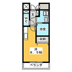 グレースフルS[2階]の間取り