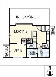 THE ONE 東山元町[3階]の間取り