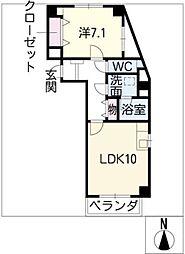ST PLAZA FUKIAGE[2階]の間取り
