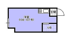 D`1  Club[306号室]の間取り