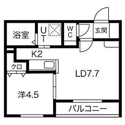 Lapis Lazuli 3階1LDKの間取り
