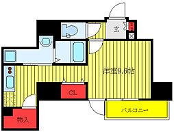 GENOVIA駒込駅 greenveil 9階1Kの間取り