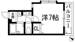 兵庫県川西市花屋敷1丁目の賃貸マンションの間取り