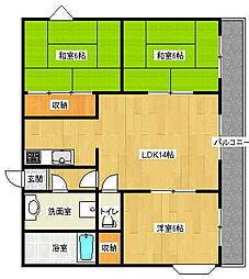 FINESS 4[2階]の間取り