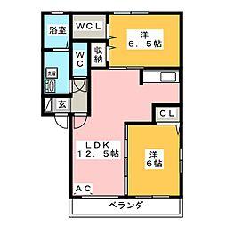 Admirez[2階]の間取り