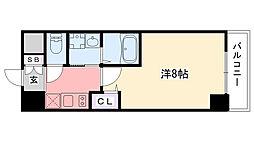阪神本線 鳴尾・武庫川女子大前駅 徒歩5分の賃貸マンション 5階1Kの間取り