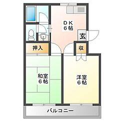 島津マンション[2階]の間取り