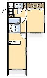 ベッドフォードS[1階]の間取り