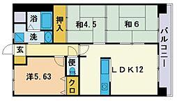 サンマリノ三苫 2階3LDKの間取り