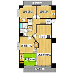 かすみがうらマンション[2階]の間取り