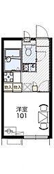 レオパレスエニワン[1階]の間取り