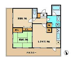 アブニール南台[4階]の間取り