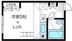 東京都北区西ケ原1丁目の賃貸アパートの間取り