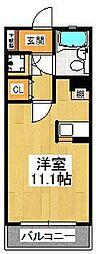 レ・ソール中山[301号室]の間取り
