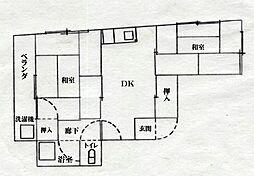 広島県呉市和庄本町の賃貸マンションの間取り